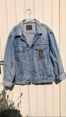 Veste en jean vintage Rica Lewis customisée
