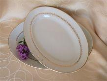 Plats de table ovales céramique, plat de service de table.