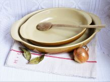 Plats de cuisson en grés, plats de four, vaisselle vintage.