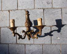 Applique chandelier en bronze