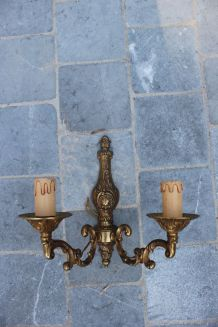 Applique chandelier en bronze