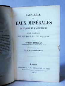 Parallèle eaux minérales France et Allemagne Barrault 1872