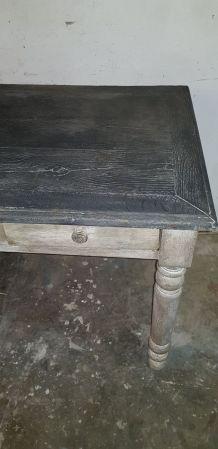 Console en chêne,  2 tiroirs