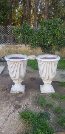 Paire de grands pots italiens céramique