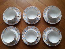 6 tasses à thé Limoges années 50/60