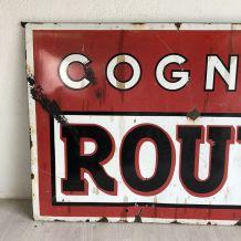 Grande plaque émaillée Cognac Rouyer