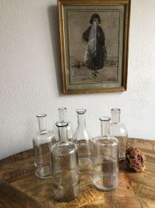6 Flacons/bouteilles  vintage.