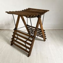 Petite table d'appoint pliante vintage 50's