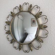 Miroir soleil oeil de sorcière vintage 1960 - 45 cm