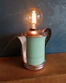"""Lampe vintage, lampe de bureau, lampe de chevet - """"Pause Caf"""