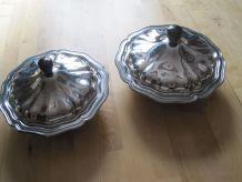 2  Anciens légumiers inox vintage