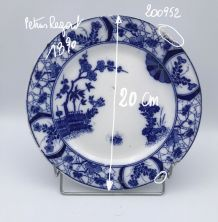 Assiette vintage Petrus Regout  Coll. Nankin   1890 20 cm di