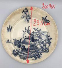 Assiette Vintage Lunéville K&G 1880 23 cm