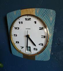 "Horloge vintage, pendule ""Bayard Bleu céladon"""