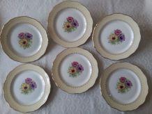 6 assiettes plates L'Amandinoise