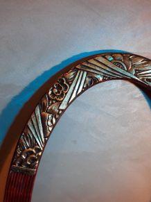 monture encadrement ovale    pour miroir  ou cadre or et bo