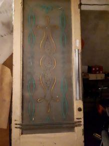 Porte double vitré, bistrot, années 50/60