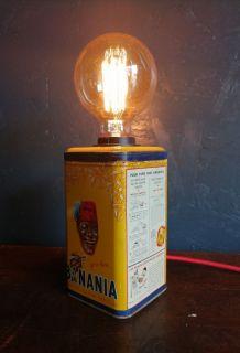 """Lampe vintage, lampe de table, lampe de bureau -  """"Banania -"""