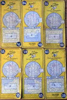 Cartes Michelin(France) années 50/60