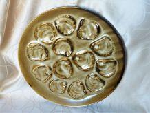 Service à huitres, assiettes et plat à huitres céramique.