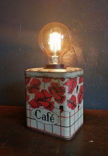 "Lampe vintage, lampe de table, lampe de bureau -  ""Café"""