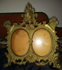 Ancien cadre photo en bronze
