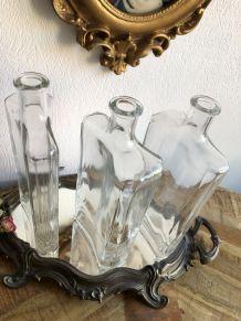 Trio bouteilles/grandes fioles vintage