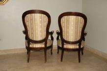 2 fauteuils voltaire