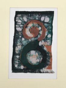 Batik sur papier marouflé -8-18x24cm