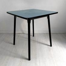 Table en formica bleue vintage 60's