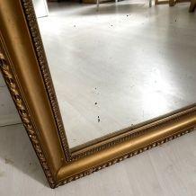 Miroir au mercure cadre doré