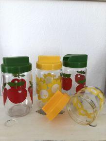Série de pots/bocaux pétillant vintage