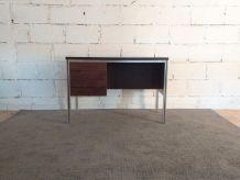 Bureau ou meuble d'appoint années 70 palissandre aluminium v