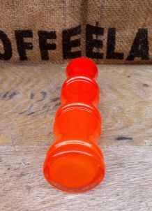 Joli vase en opaline orange - Années 70