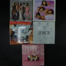 lot de 5 singles - Boys band & girls band