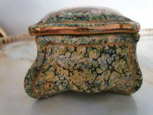 Boite bonbonnière paon porcelaine