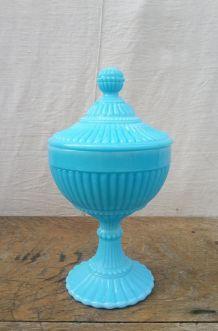 Joli pot en opaline bleu turquoise