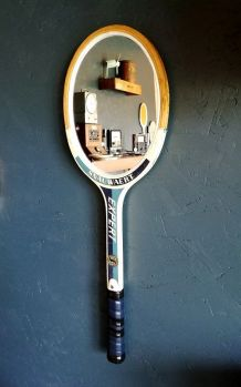"""Miroir, raquette miroir, raquette tennis - """"Snauwaert Bleu"""""""