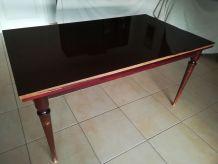 Table formica acajou années 60 vintage