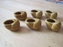 6 coquilles d'escargots, coquilles en céramiques, coquilles