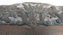 Miroir en bois sculpté