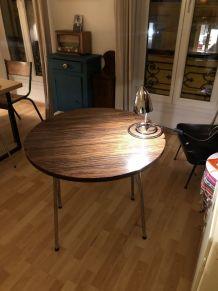 Table formica vintage duo des années 70