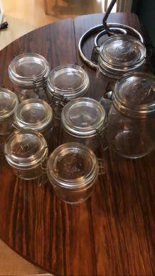Lot de 6 Bocaux en verre Le Parfait, différentes tailles