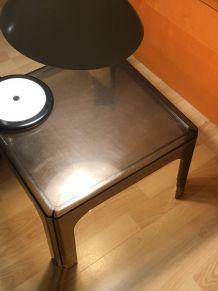Table design DAVID LANGE 1970 - 80 vintage plexiglas