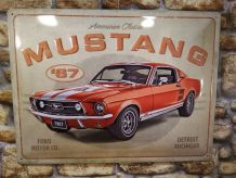 PLAQUE DECO EN RELIEF MUSTANG