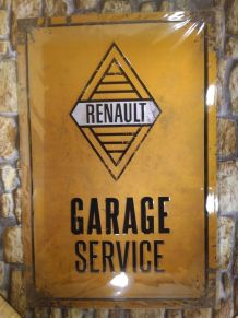 GRANDE PLAQUE RENAULT GARAGE