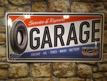 PLAQUE METAL GARAGE