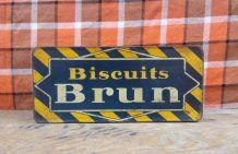 Boite en tôle lithographiée Biscuits Brun - 1930
