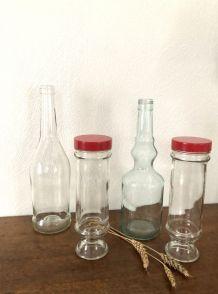 Quatro/duo bouteilles et pots vintage