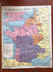 Carte scolaire ancienne